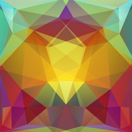 consisting: abstract background consisting of yellow, red, green, purple triangles, vector illustration