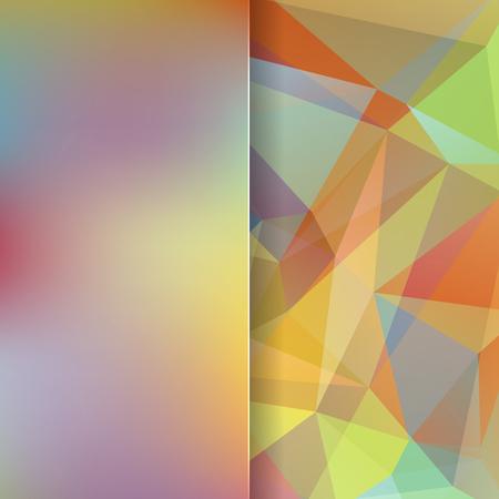 matt: abstract background consisting of triangles and matt glass, vector illustration Illustration