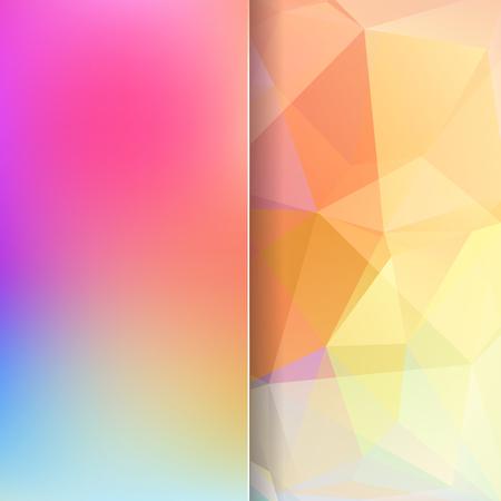 matt: abstract background consisting of pink, orange, yellow, blue triangles and matt glass, vector illustration Illustration