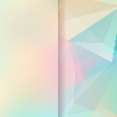 matt: abstract background consisting of pink, yellow, blue triangles and matt glass, vector illustration