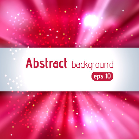 text pink: Abstract artistic background with place for text. Pink, red colors. Color rays of light. Original sparkle design