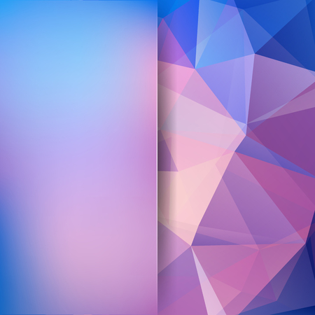 deep pink: Abstract background consisting of triangles. Pink, blue colors. Geometric design for business presentations or web template banner flyer. Vector illustration