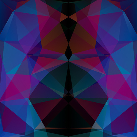 pink and black: Polygonal vector background. Pink, black, blue colors. Can be used in cover design, book design, website background. Vector illustration Illustration