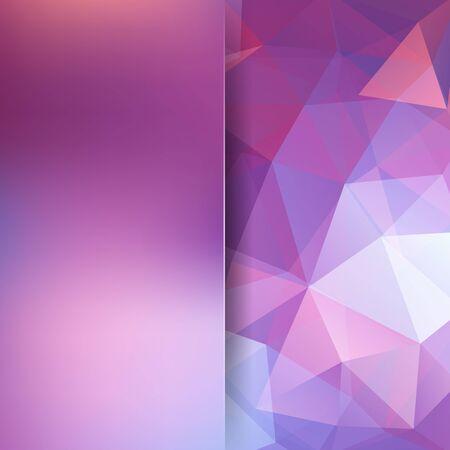 Polygonal vecteur de fond. Rose, blanc, couleurs pourpres. fond flou. Peut être utilisé dans la conception de la couverture, la conception du livre, fond site. Vector illustration Vecteurs