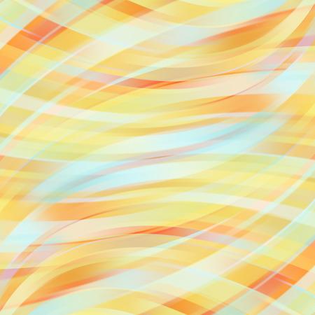 빛을 흐려 곡선과 파스텔 추상적 인 배경 벡터 일러스트 레이 션. 파스텔 오렌지, 노란색, 파란색 색상.