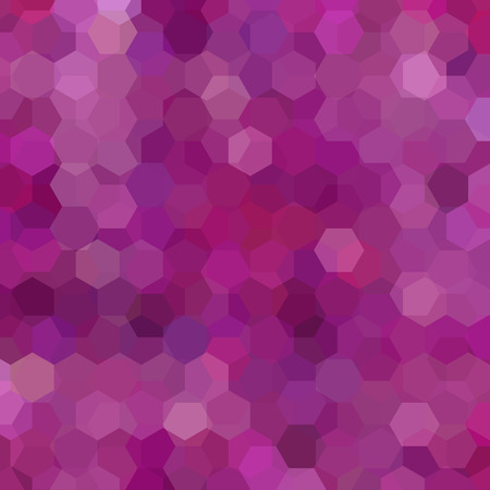 square composition: Background made of hexagons. Square composition with geometric shapes. Pink, purple colors.