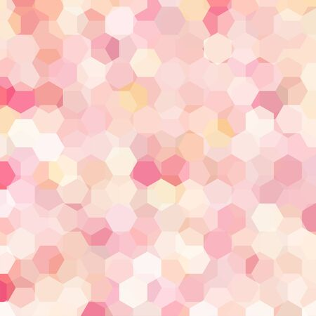 Abstract background consisting of hexagons. Geometric design for business presentations or web template banner flyer.  Pink, beige, white colors Illustration