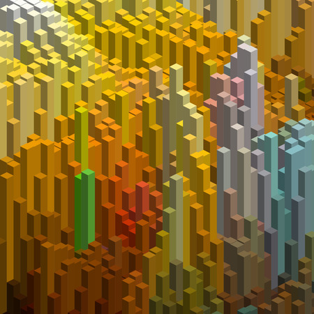 cube box: Abstract background with 3d cubes. Vector cube box for business concepts. Orange, brown, green, blue colors.