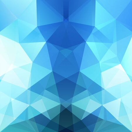 blue stripe: Background made of triangles. Blue, white colors. Square composition with geometric shapes. Illustration