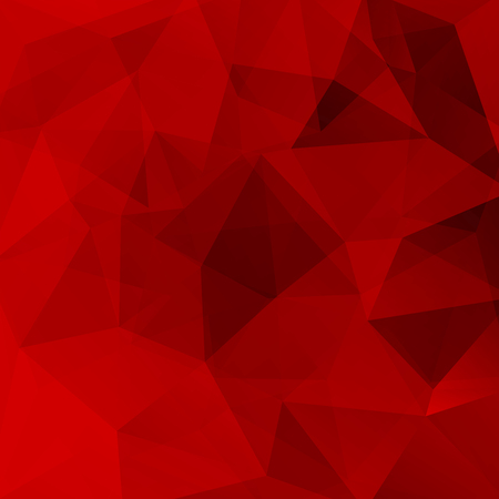 Geometric pattern, polygon triangles vector background in dark red tones. Illustration pattern Vectores