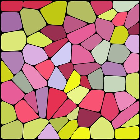 geometrical shapes: abstract background consisting of pink, yellow geometrical shapes, vector illustration
