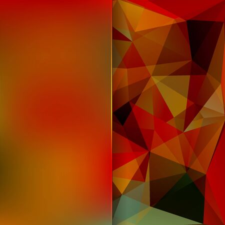 matt: abstract background consisting of brown, red, green triangles and matt glass, vector illustration