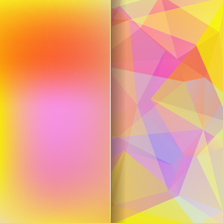matt: abstract background consisting of pink, yellow, orange triangles and matt glass, vector illustration Illustration