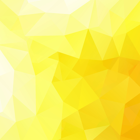 yellow background: abstract background consisting of triangles, vector illustration