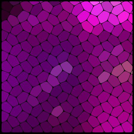 rounded edges: Abstract background consisting of black lines with rounded edges of different sizes and purple geometrical shapes.