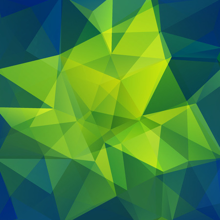 scrunch: Background made of triangles. Green, blue colors. Square composition with geometric shapes. Eps 10 Illustration