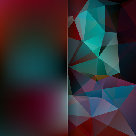 double page: Abstract background consisting of triangles. Geometric design for business presentations or web template banner flyer. Vector illustration Illustration