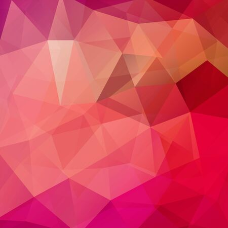 abstract background consisting of pink, orange triangles, vector illustration