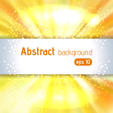 glaring: Colorful smooth light lines background. Yellow color. Vector illustration