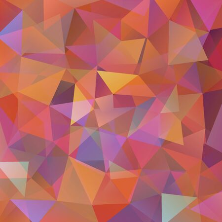 imposition: abstract background consisting of brown, orange, yellow, pink triangles, vector illustration