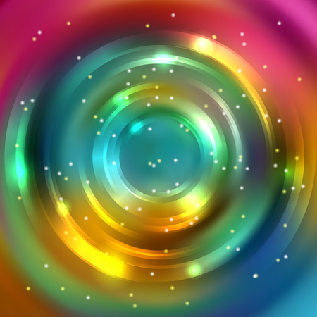 color illustration: Abstract background with colorful circle, vector illustration