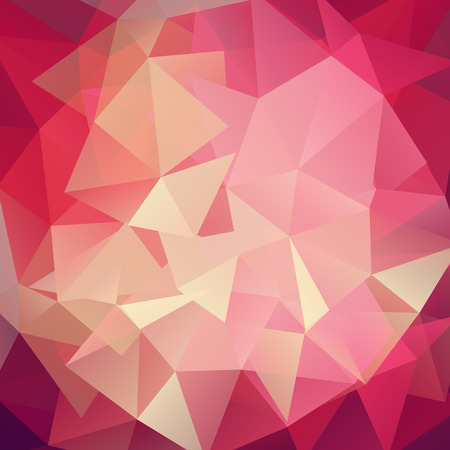 creased: Abstract geometric background with triangles. Red, pink colors. Modern and trendy geometric pattern. Vector illustration