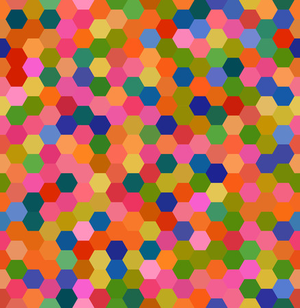 er: Abstract hexagons geometrical background, Vector Illustration. Seamless pattern