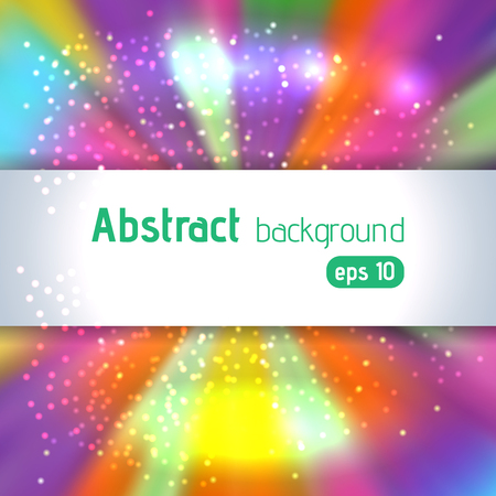Colorful smooth light lines background. Pink, yellow, orange, purple, blue colors. Vector illustration