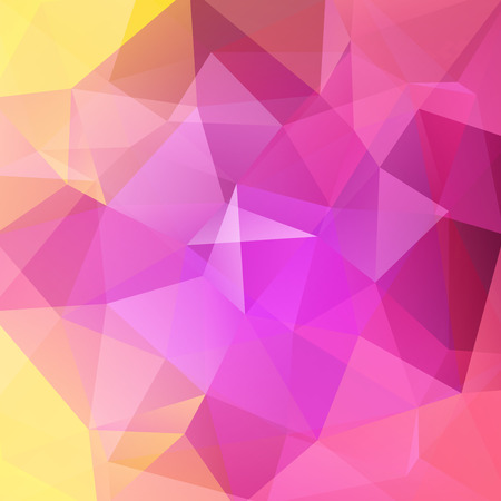 creased: Abstract geometric style colorful background. Pink, yellow business background Vector illustration