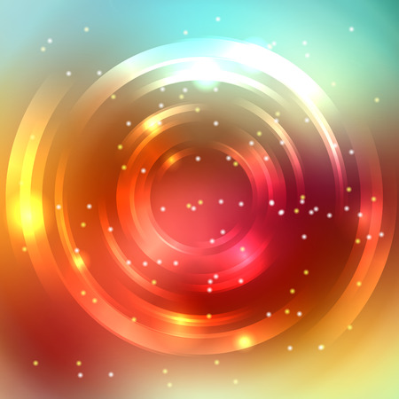 festive background: Abstract colorful background, Shining circle tunnel. Elegant modern geometric wallpaper. Vector illustration