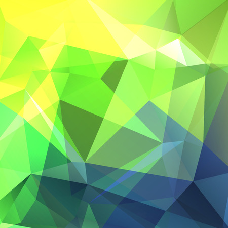 creased: Geometric pattern, polygon triangles vector background in yellow, green and blue tones. Illustration pattern Illustration