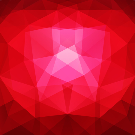 creased: Abstract background consisting of triangles. Red, pink colors. Geometric design for business presentations or web template banner flyer. Vector illustration