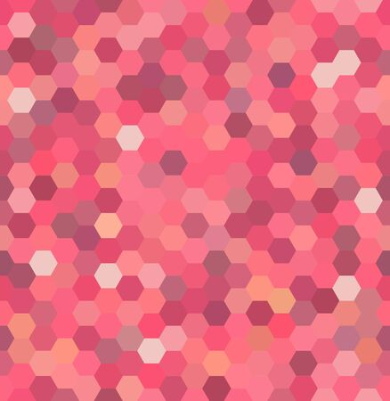 repeating background: Vector background with hexagons. Can be used for printing onto fabric and paper or decoration. Pink color. Illustration