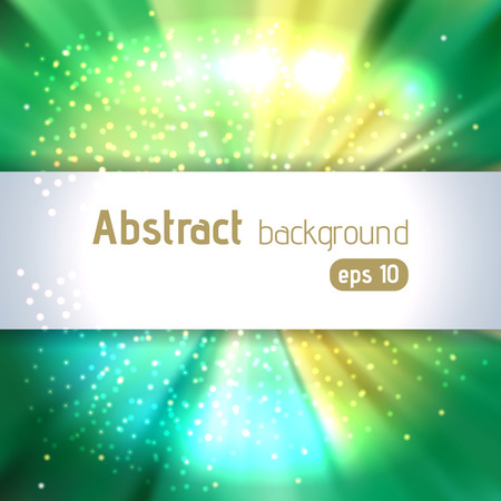 original sparkle: Abstract artistic background with place for text. Yellow, green colors. Color rays of light. Original sparkle design Illustration