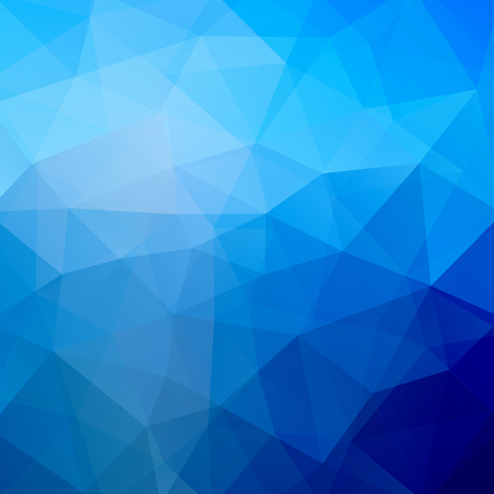 Polygonal vector background. Can be used in cover design, book design, website background. Vector illustration. Blue color.