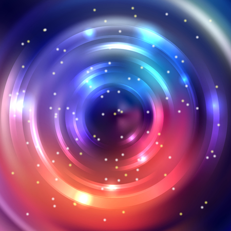 colors background: Abstract circle background, Vector design. Orange, pink, blue, purple, colors. Glowing spiral. The energy flow tunnel. Illustration