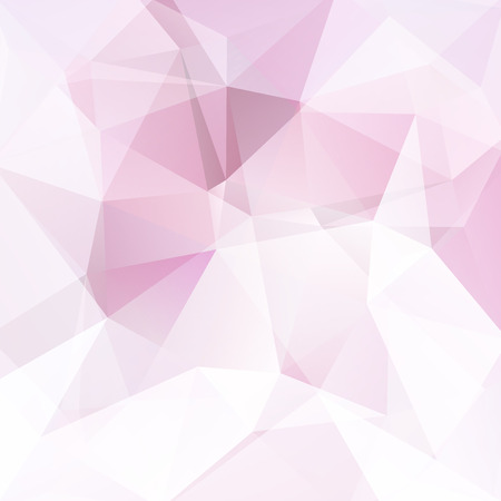 double page: Polygonal vector background. Can be used in cover design, book design, website background. Vector illustration. Pink, white colors.