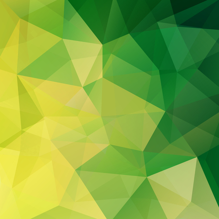 double page: Polygonal vector background. Can be used in cover design, book design, website background. Vector illustration. Green, yellow colors. Illustration
