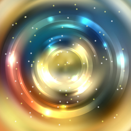 brown swirl: Abstract background with luminous swirling backdrop. Shiny swirl background. Intersection curves. Yellow, blue, orange, brown colors. Illustration