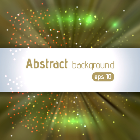 radiant light: Beautiful rays of light. Shiny eps 10 background. Colorful radial radiant effect. Vector illustration. Green, brown colors.