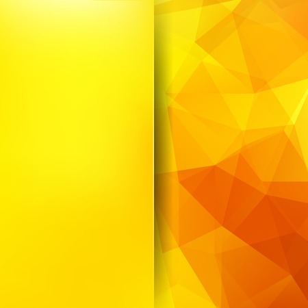 Background of geometric shapes. Blur background with glass. Colorful mosaic pattern. Vector EPS 10. Vector illustration. Yellow, orange colors Illustration