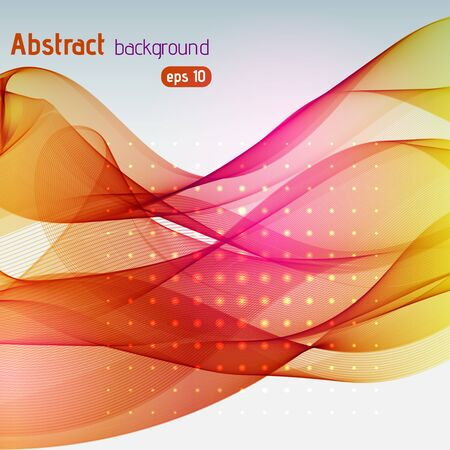 abstract waves: Abstract colorful background with swirl waves. Abstract background design. Eps 10 vector illustration. Yellow, orange, pink colors. Illustration