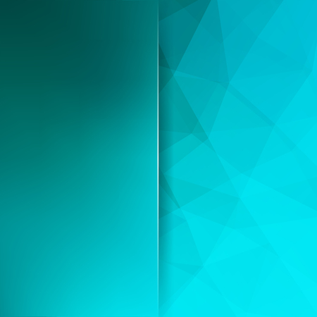Abstract geometric style blue background. Blue business background Blur background with glass. Vector illustration