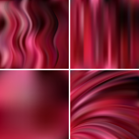 Pink Purple Black Colors Abstract Vector Illustration Of Colorful Background With Blurred Light Lines Set Four Square Backgrounds