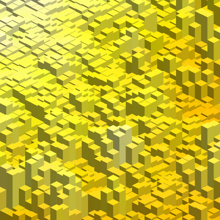 cube box: Abstract background with 3d cubes. Vector cube box for business concepts. Yellow color.