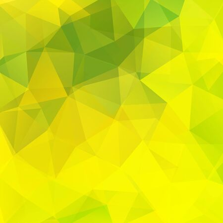 scrunch: Background made of triangles. Square composition with geometric shapes. Eps 10. Green, yellow colors.