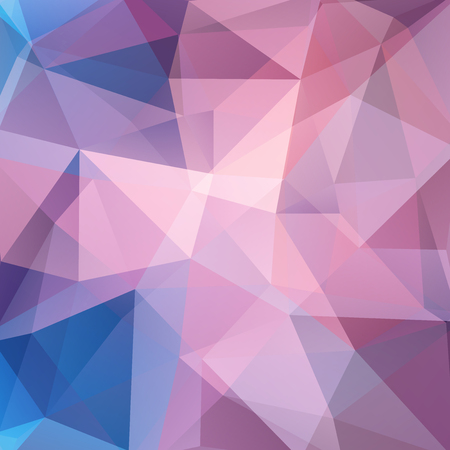 scrunch: Abstract polygonal vector background. Colorful geometric vector illustration. Creative design template. Pink, blue colors.