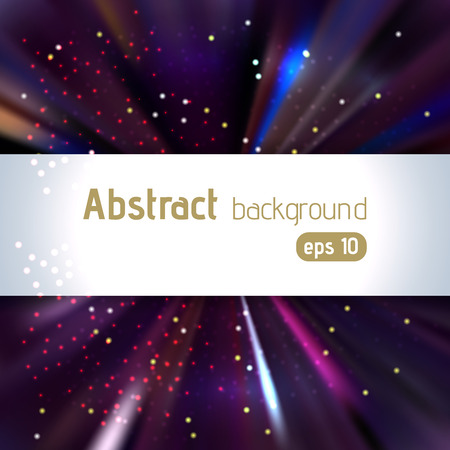 the light rays: Background with colorful light rays. Abstract background. Vector illustration. Dark purple colors.
