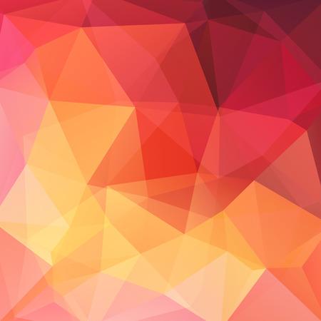 Abstracte mozaïekachtergrond. Driehoek geometrische achtergrond. Design elementen. Vector illustratie. Geel, oranje, rood kleuren.