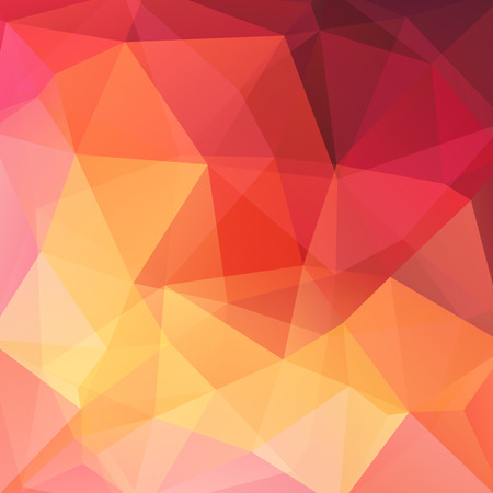 Abstract mosaic background. Triangle geometric background. Design elements. Vector illustration. Yellow, orange, red colors.